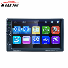 7021B 2 DIN 7 inch Car Stereo MP5 Radio Player 800X480 Built-in radio FM tuner Touch Screen Bluetooth MP4 Player FM/TF/USB/SD