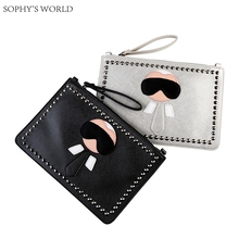 Fashion Rivet Women Bag 2017 High Quality PU Leather Envelope Bags Clutch Evening Bag Ladies Purse Chains Messenger Bag