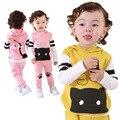 Anlencool Otoño envío de la nueva marca de ropa de bebé traje de tres piezas Macho y hembra bebé ropa determinada del bebé del gatito ropa
