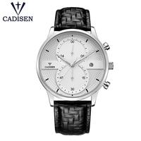 Cadisen C9055 Quartz Mens Watches Sport Chronograph Watch Men Clock Wristwatch Business Waterproof Wrist Watch Male Timer