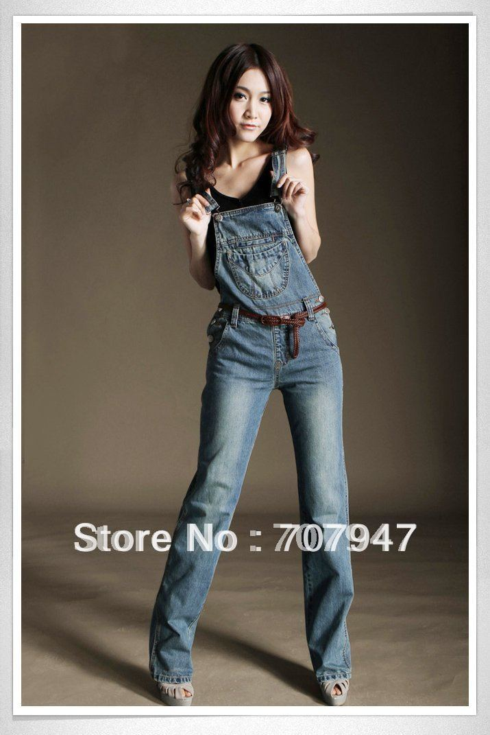 Free shipping 2014 new Brand denim overalls for women ...