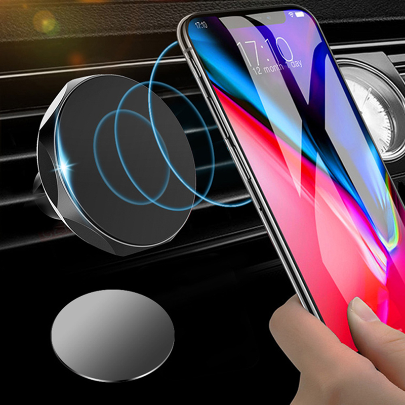 Car Phone Holder Magnetic Air Vent Mount Mobile Smartphone Stand Magnet Support Cell in Car GPS For iPhone x Samsung Xiaomi MI9 in Phone Holders Stands from Cellphones Telecommunications