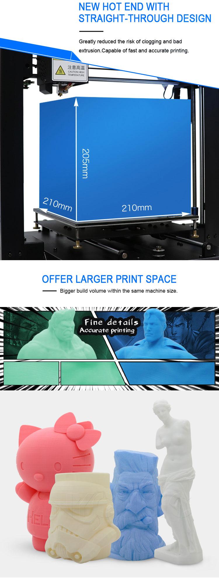 Anycubic 3D printer impresora 3d I3 Mega full metal imprimante 3d High Precision Patented Lattice Platform 3d printer kit (4)