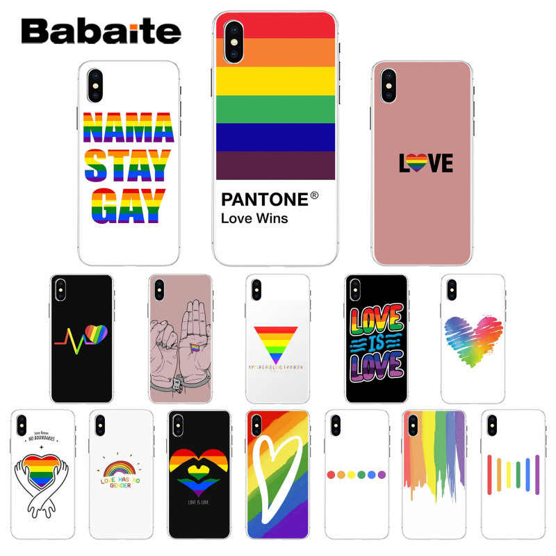 Babaite Lesbian LGBT Rainbow Pride ART Pattern TPU Soft Phone Case for iPhone X XS MAX  6 6s 7 7plus 8 8Plus 5 5S SE XR