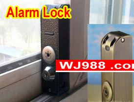 Rarelock Christmas Supplies Baby Care Metal Window Alarm Lock for Glass Sliding Door Lock Bahtroom Home Security Accessories DIY brand new 5sets sliding window lock security anti theft bolt lock children safety prevent baby opening sliding window limit lock