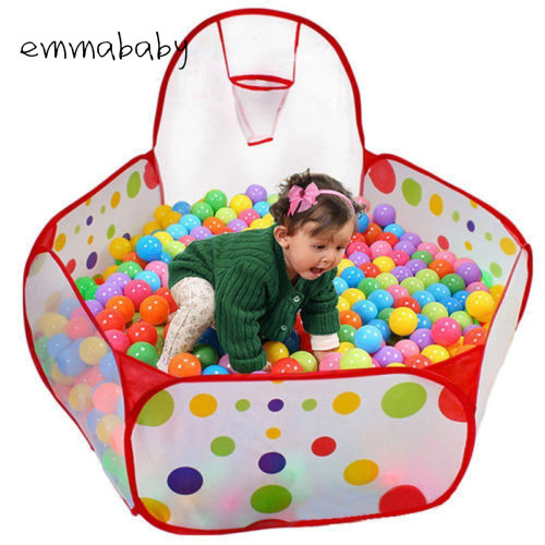 Mother & Kids Emmababy Brand New Baby Kids Ball Pit Ball Tent Toddler Ball Pit With Basketball Hoop And Zipper