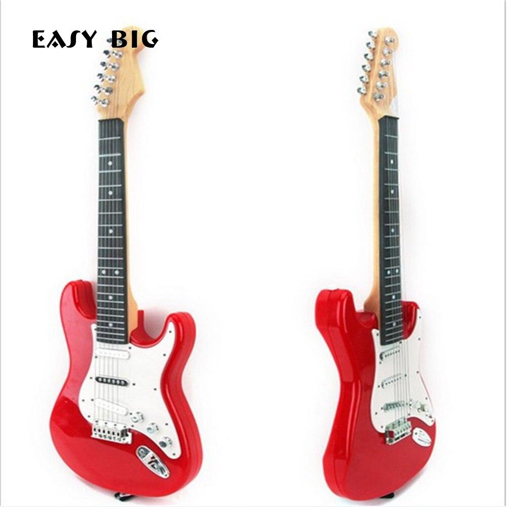 FACILE GRAND 65*22*6.5 cm Musical Électrique Guitare Jouet Enfants Instruments de Musique Jouets Éducatifs Pour Enfants Comme nouvelle Année Cadeau O2K0001