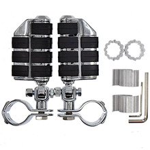 Motorcycle Adjustable Chrome Highway Foot Pegs FootPegs For Honda GoldWing GL1800 GL1500 GL1200 VT750 Shadow 750 25mm 30mm 35mm