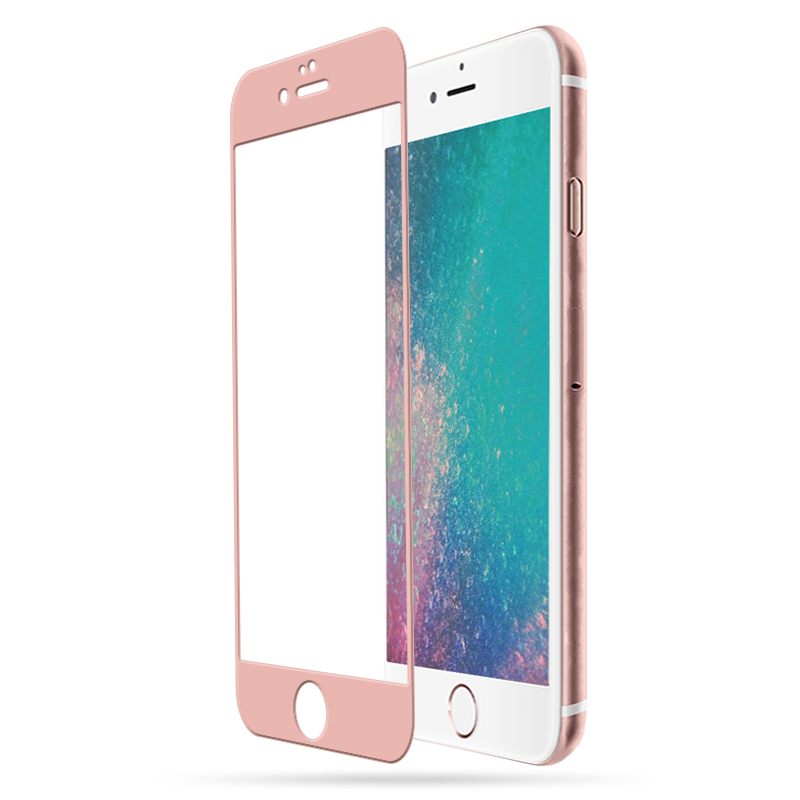Pink/Rose Gold Screen Protector For iPhone 7 plus Full