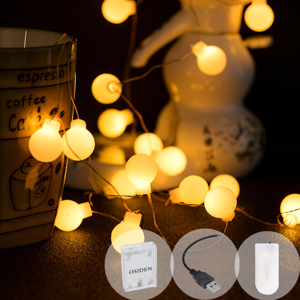 String Light Fairy Ball 50 100 LED Battery Usb Mini LED Transparent Copper Light For Weddings Holiday Party Christmas Decoration