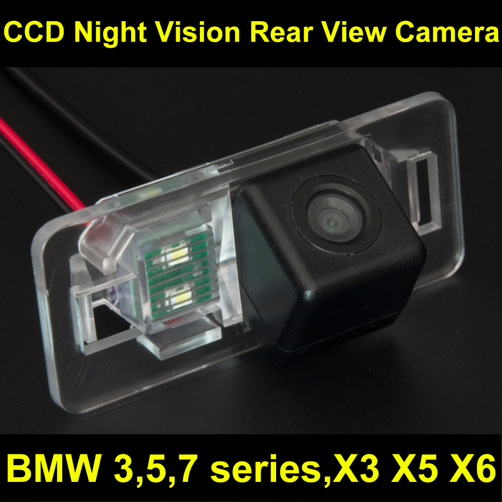 Ccd car rear view camera backup reverse parking camera for bmw x3 x5 x6 e53 e70