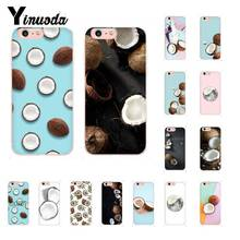 Yinuoda Coconut On The Beach Soft Silicone Phone Case for iPhone X XS MAX 6 6S 7 7plus 8 8Plus 5 5S XR 10 Case 11 11pro 11promax yinuoda sweet world space art diy printing phone case for iphone x xs max 6 6s 7 7plus 8 8plus 5 5s xr 10 case 11 11pro 11promax