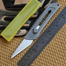 District 9 Original Paper knife Titanium Handle Olfa stainless steel blade Pruning pocket outdoor camping knife knives EDC tool