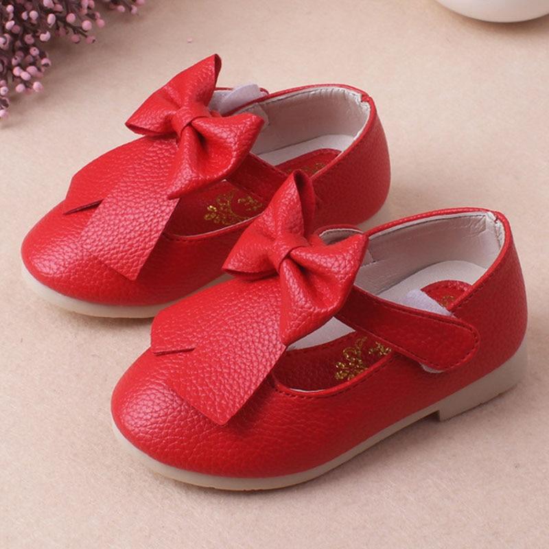 New Summer Autumn Red/Pink Children Shoes Low Heel Kids