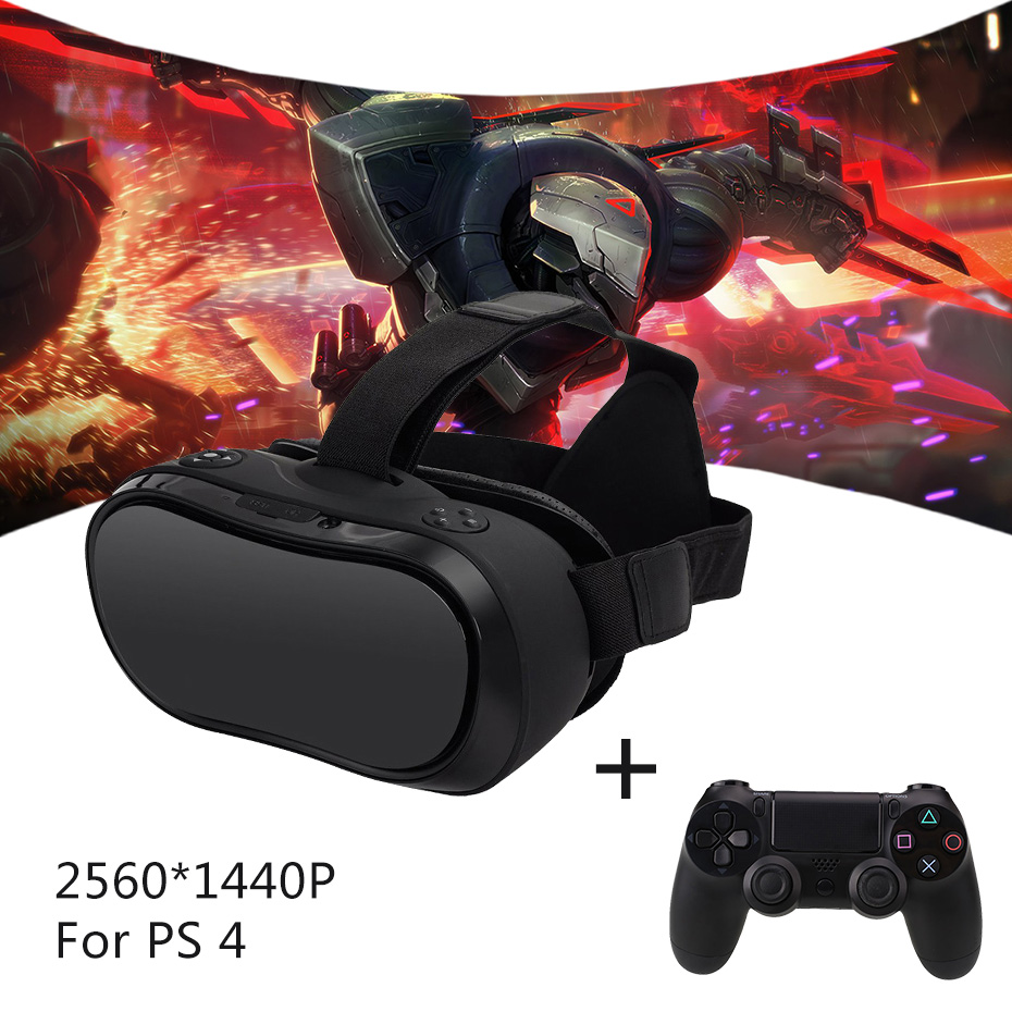 VR 3D Headset for PS 4 Xbox 360 Host PC 2560*1440 RK 3288 Virtual Reality Glasses All In One VR Wired Controllers for PS 4 host host uab cd