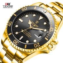 69a5c4553357 Tevise Top marca hombres relojes mecánicos automáticos negocios inoxidable  Fashione lujo oro reloj Relogio Masculino(