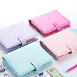Macaron 2.0 bonito espiral notebooks papelaria, fino escritório escola agenda pessoal organizador/binder diário semanal planejador presente a5 a6