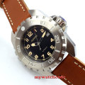 45mm parnis black dial orange marks miyota automatic movement mens watch P444