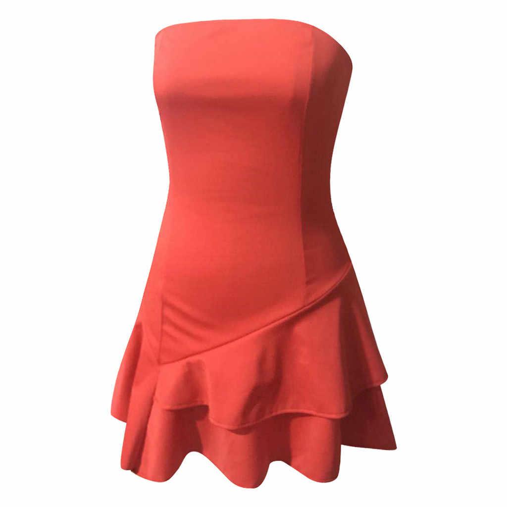 Модные летние платья для женщин с открытыми плечами, сексуальное платье для пляжного отдыха, облегающее многослойное платье с оборками, шифоновое мини-платье
