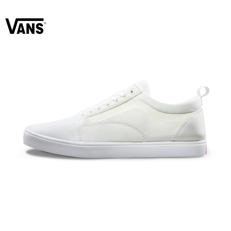 Original Vans White Color Women Skateboarding Shoes Sneakers Beach Shoes Canvas Shoes Classic Shoes blue and white canvas anti static shoes esd clean shoes pharmaceutical shoes work shoes add cotton