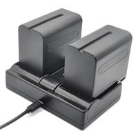 DuraPro 2Pcs 7200mAh NP F960 NP F970 F960 Rechargeable Camera Battery USB Charger For SONY MVC
