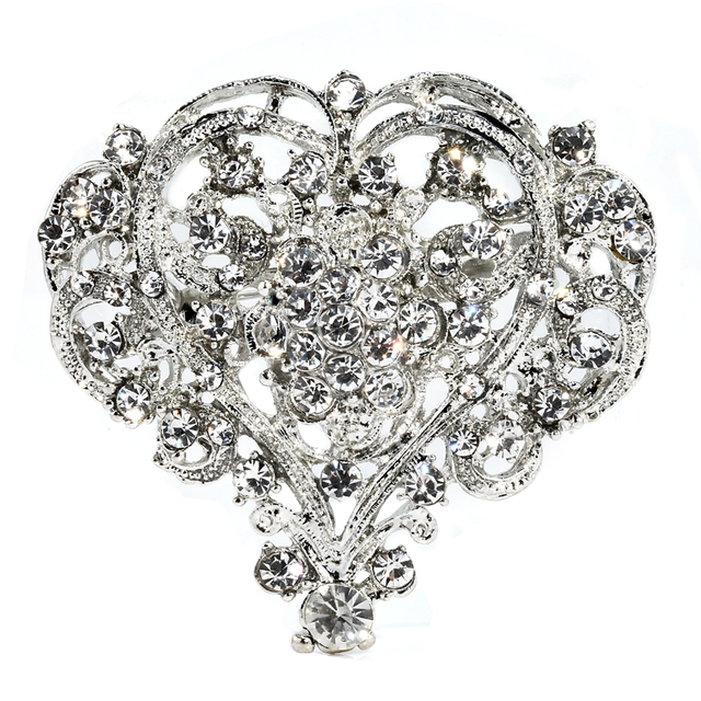 34f18931b1 US $1.47 |Hot Cute Heart Shape Lady Girl Rhinestone Brooch Huge Size  Wedding Party Brooch Pin Women Jewelry Christmas Gift Beauty-in Brooches  from ...