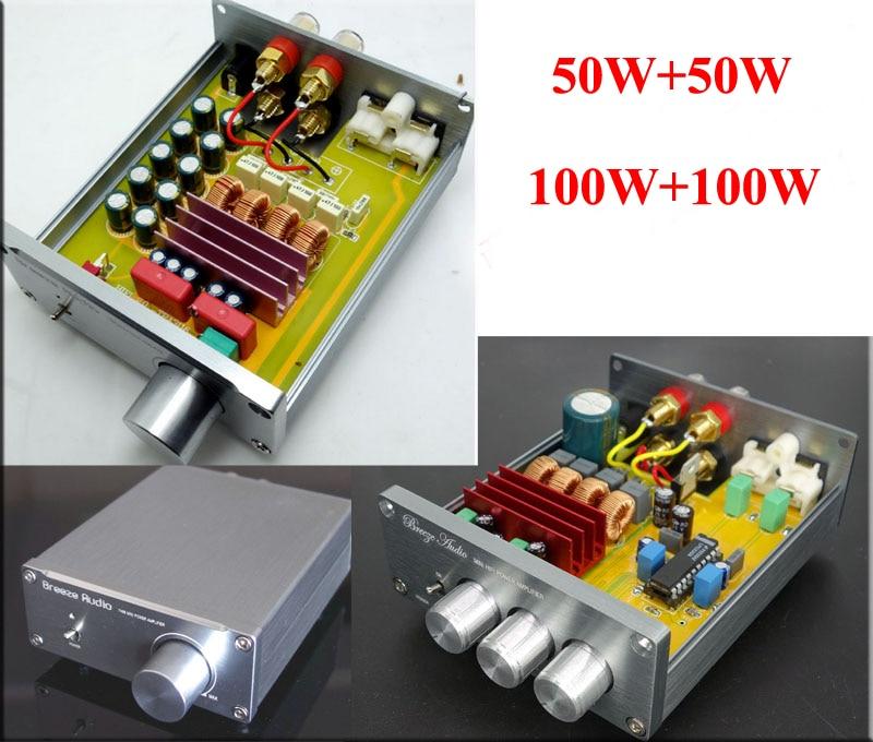 Brise Audio BA505/BA100 HIFI 2,0 stereo digital-audio-leistungsverstärker TPA3116 high power version der material 50WX2 & 100 Watt * 2