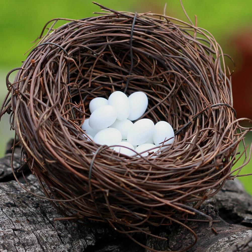 Decorative bird nest for Artificial birds for decoration