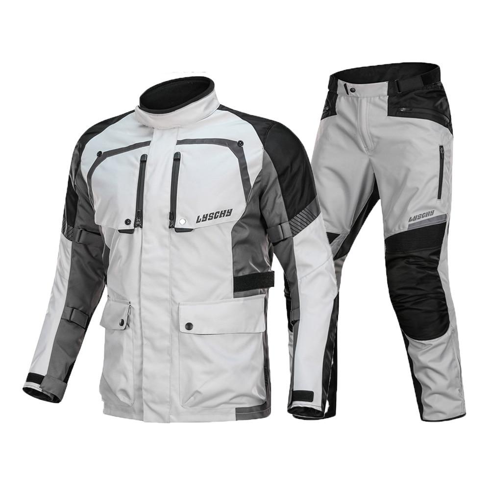 Veste de Moto LYSCHY veste d'équitation été Moto imperméable respirant Moto équipement de protection armure Moto vêtements