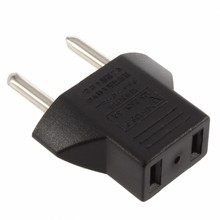 HKES Universal EU adapter plug US 2 Flat Pin To EU 2 Round pin plug socket CCTV DVR CAMERA Travel Power Charger Converter