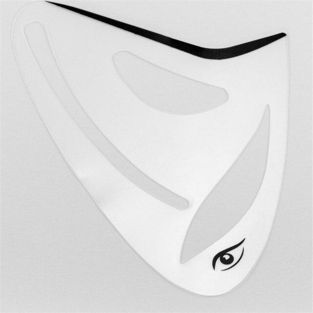2pcs Eyeliner Eye shadow Stencil 3 in 1 Cat Eyes Cosmetic Tool Card Cat Eyeliner Shape Template Model Tool Eye brow Makeup Tool 3
