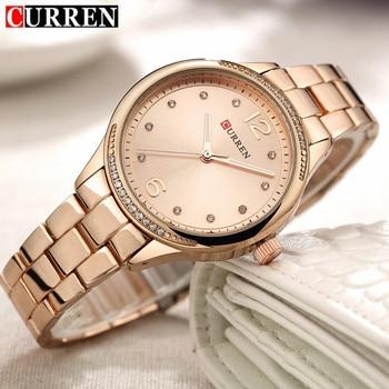 Relogio Feminino 2018 Curren Watches Women Brand Luxury Gold Quartz Watch Fashion Ladies Dress Elegant Wristwatch Gifts For Lady дамски часовници розово злато