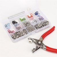 Hot Sale 150 Sets 9 5mm 10 Colors Prong Ring Press Studs Snap Fasteners Dummy Clip