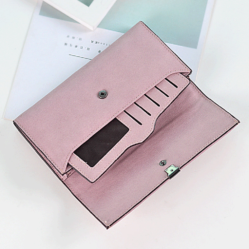 High Quality Women Long Wallets Letter Standard Hasp Money Purse Fashion Style Card Holder Synthetic Leather Clutch Bag Female 4