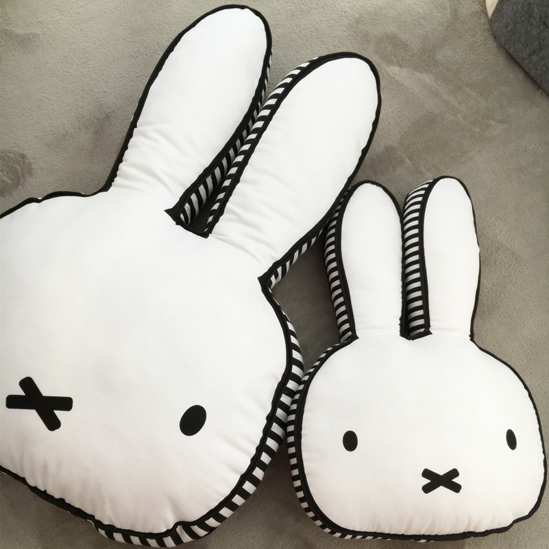 Black and white bear pit bulls rabbit pillow double side digital printing pillow pillows childrens game cushion Room Decoration