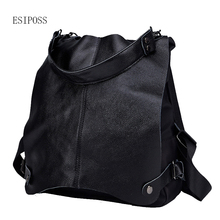 Genuine leather women Anti-theft backpack shoulder bag colle