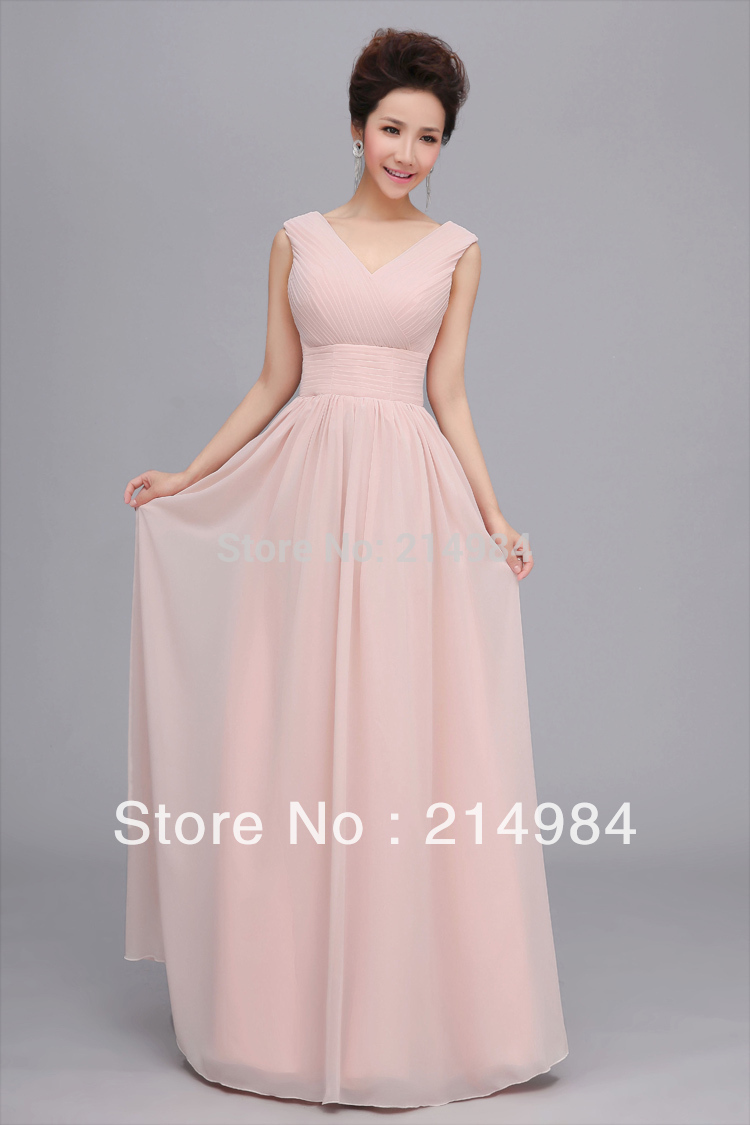 Hot sale nude pink long chiffon bridesmaid dress 2015 free hot sale nude pink long chiffon bridesmaid dress 2015 free shipping wedding party prom formal dresses 1 color 6 style can choose in bridesmaid dresses from ombrellifo Image collections