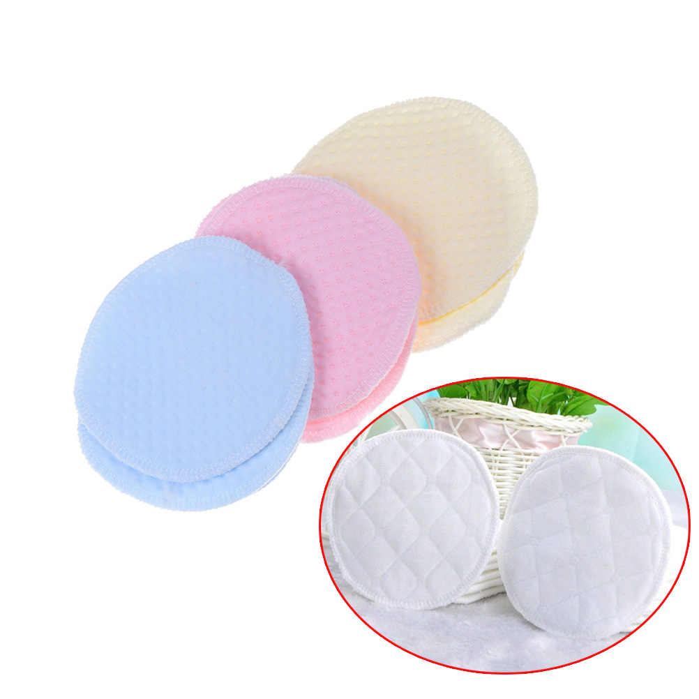Color aleatorio 6 uds reutilizable lavable suave algodón absorbente mamá madre bebé lactancia almohadillas sujetador insertos suministros