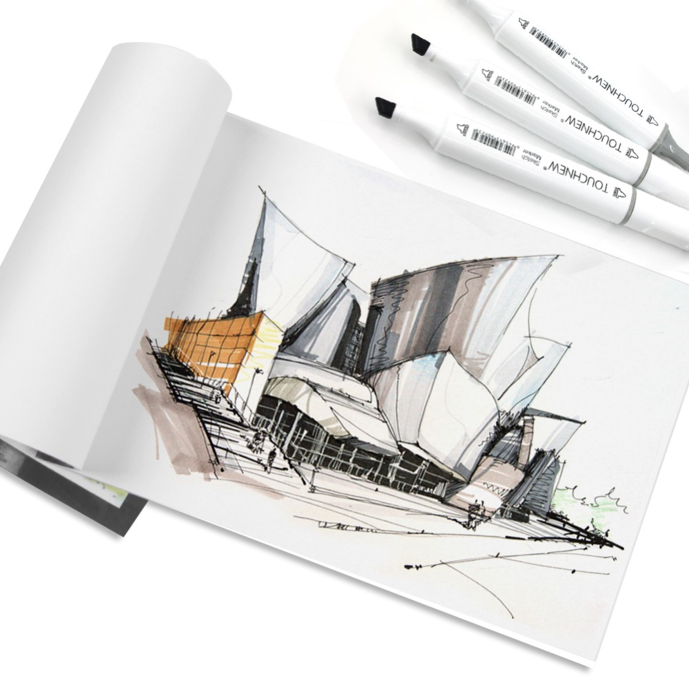 Art Drawing Marker Pen , TOUCHNEW 40 60 80 168 Colors Alcohol Graphic Art Sketch Twin Marker Pens Gift sketchbook for painting 4