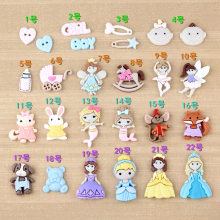 10pcs Resin charms children's jewelry materials baby hand foot ink DIY accessories cream adhesive mobile phone shell decoration(China)