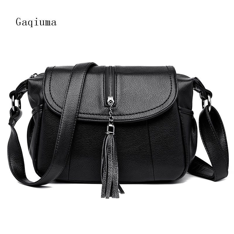 Gaqiuma brand women bag tassels handbags luxury designers crossbody messenger bags female new design fashion bag fashion cover and tassels design women s shoulder bag