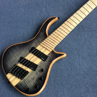 New Arrival, Factory Custom 6 strings Electric Bass guitar, Maple fingerboard, Free shipping