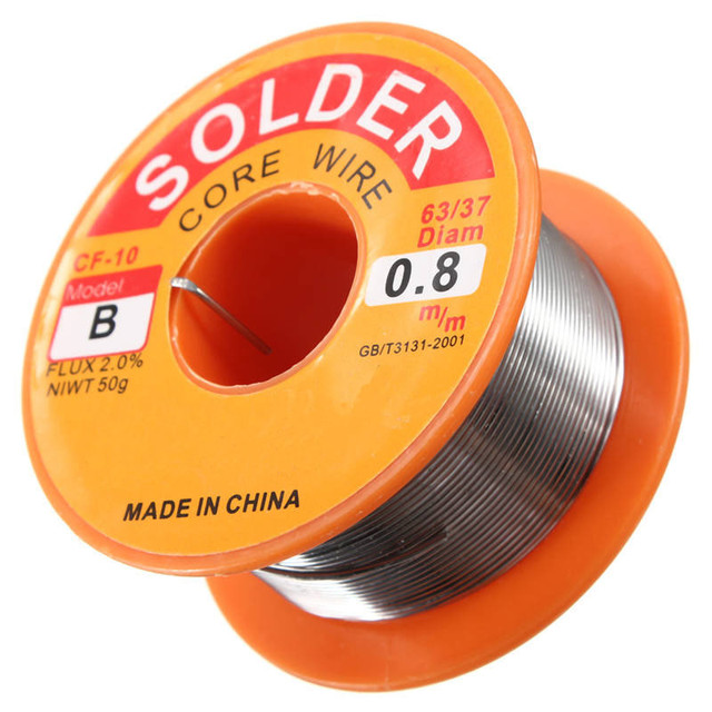 0.5/0.6/0.8/1/1.2/1.5/2.0mm 63/37 FLUX 2.0% 45FT Tin Lead Tin Wire Melt Rosin Core Solder Soldering Wire Roll 2