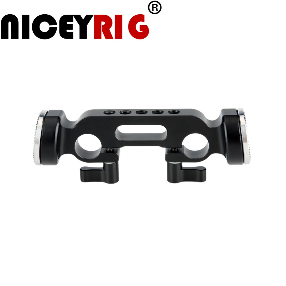 NICEYRIG 15mm Rod Clamp With Standard ARRI Rosette M6 For Cheese Handle Camera Cage Shoulder Rig 1/4 3/8 Inch Screw Camera Clamp
