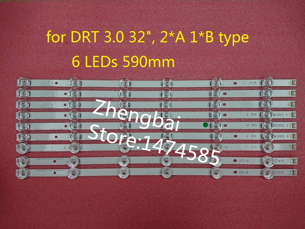 100%New 3 PCS(2*A 1*B) LED backlight strip for LGIT A B LG innotek DRT 3.0 32