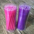 LilacLine útil 200 UNIDS Micro Tip Brush Aplicadores de Pestañas Lash Extensiones de Limpieza y de Eliminación de Original!