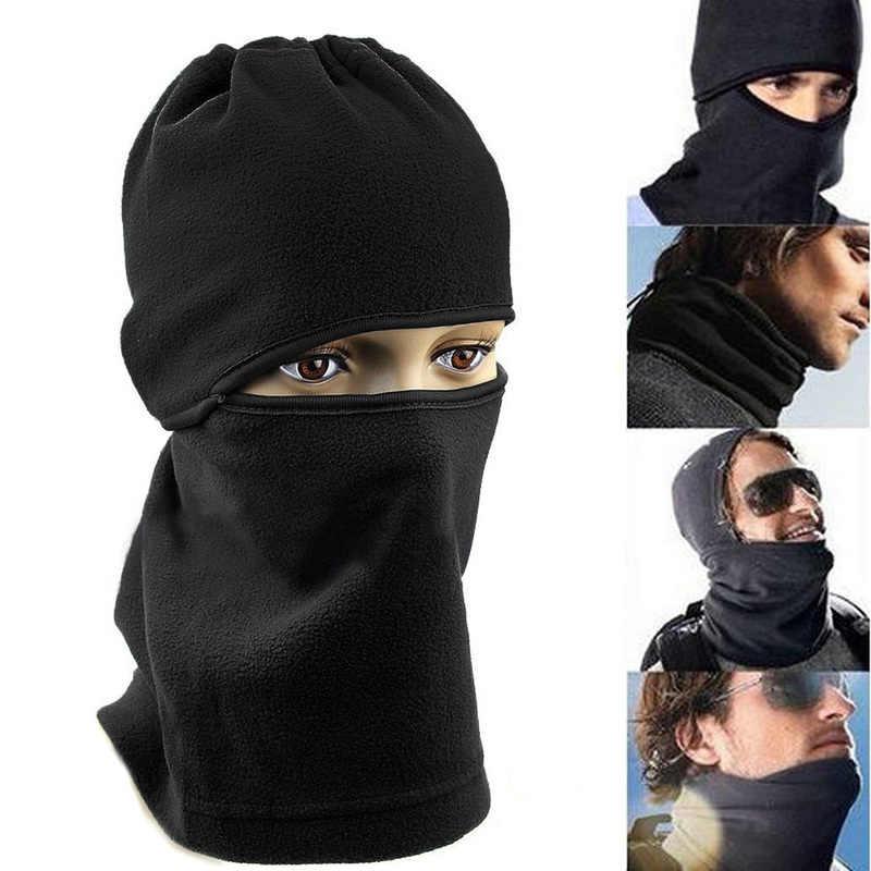 ecbab4966 outdoor winter wool warm Cover Hat full face mask hunting mountaineering  riding ski mask Beanie CS Balaclava Neck hat sportswear