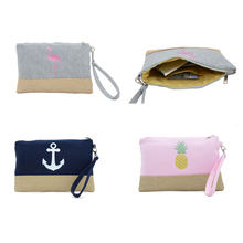 BONAMIE Anchor Pattern Beach Bag Flamingo Women Fashion Handbag For Female Large Capacity Pineapple Wristlet Clutch Bag New 2019