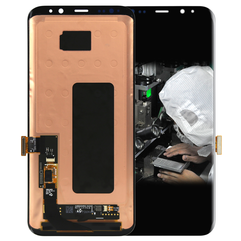 1PCS OEM 6.1 inch Mobile phone LCD For samsung S8 plus Display Touch Screen With Digitizer Replacement Assembly Parts Free DHL omg aaa replacement mobile phone lcd screen for iphone 6 4 7 inch display with digitizer touch smart phone screen assembly