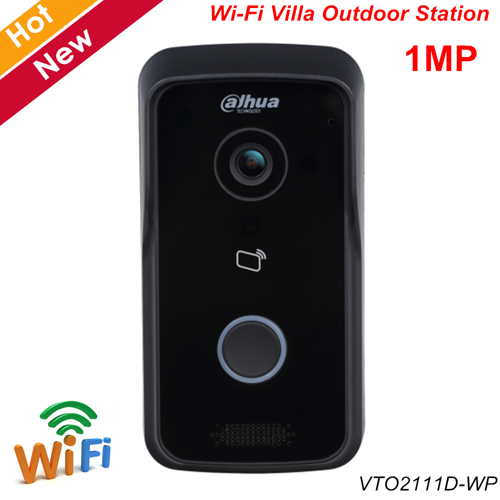 Dahua Video Intercom VTO2111D-WP 1MP Wi-Fi Villa Outdoor Station Support Night Vision And Voice Indication APP Remote Doorbell